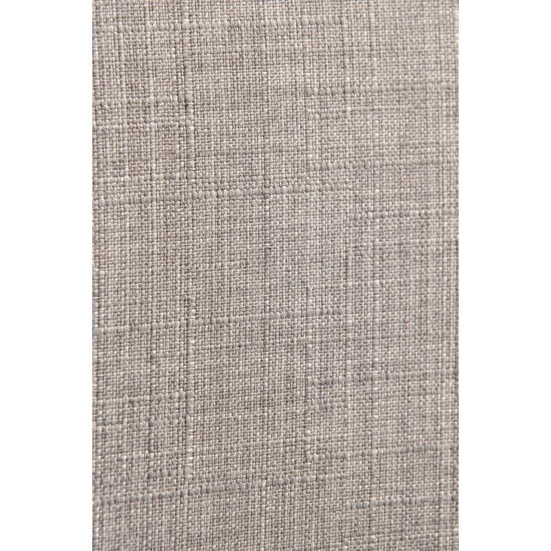 Lot de 2 chaises vintages INES en tissu et bois (gris clair, chêne) - image 30368