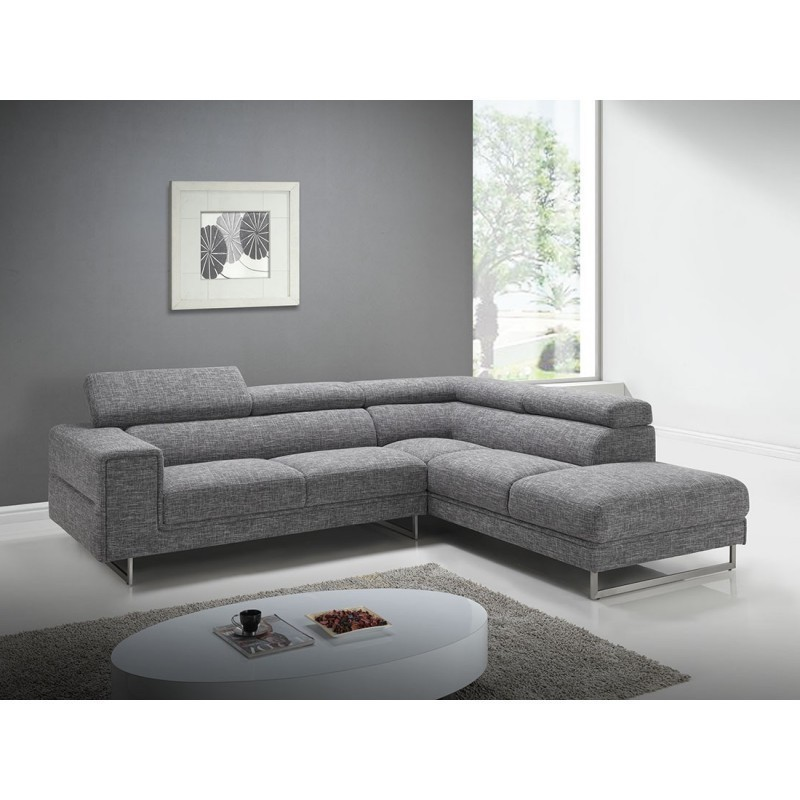 corner sofa design right side 5 places with meridian mathis in fabric light grey couch d angle