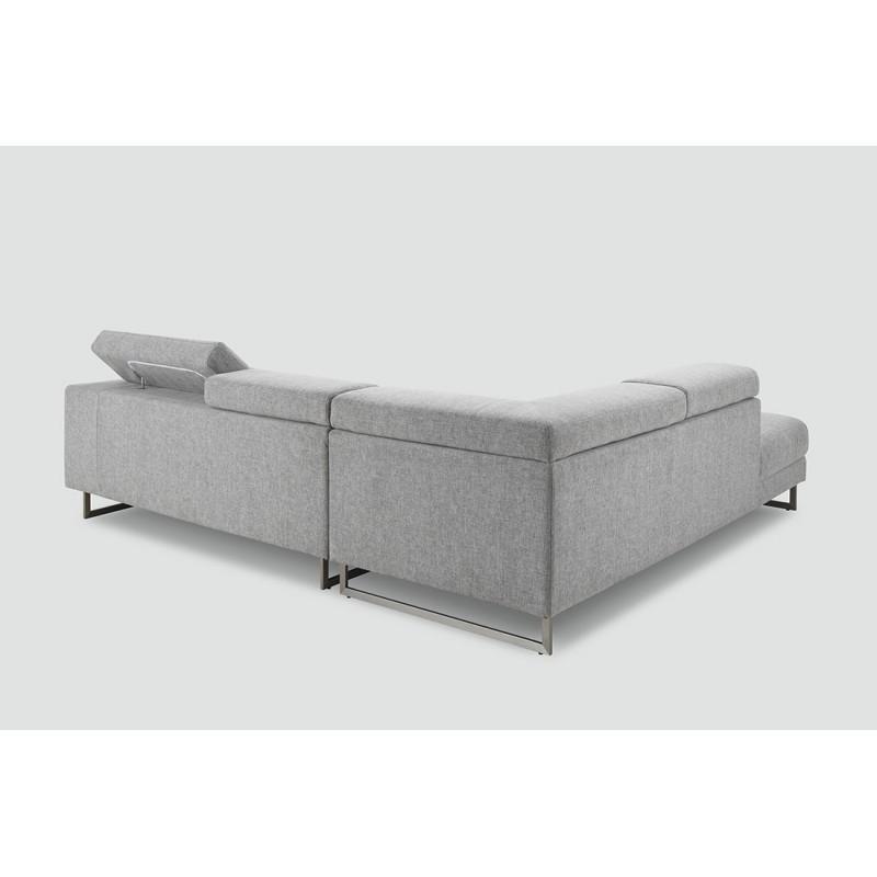 designer 5 sitzer sofa links mit mathis stoff lounge sessel hellgrau. Black Bedroom Furniture Sets. Home Design Ideas