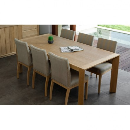 Comedor rectangular (200x95cmx76cm) roble JASON (roble natural)