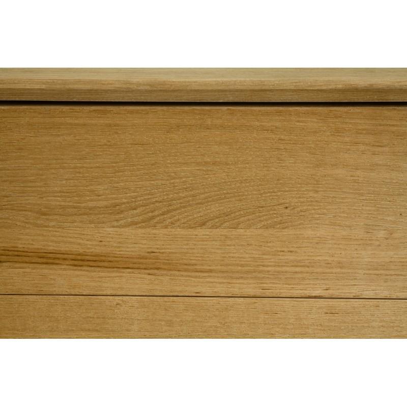 Meuble TV bas design 2 tiroirs 1 porte JASON en chêne massif (chêne naturel) - image 30442