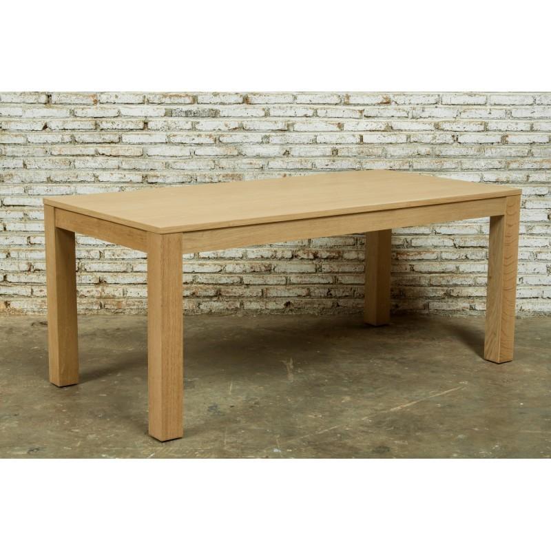 Table à manger extensible (180/235x90cmx76,5cm) JASON en chêne massif (chêne naturel) - image 30449