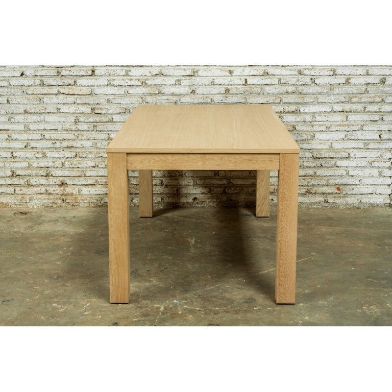 Table à manger extensible (180/235x90cmx76,5cm) JASON en chêne massif (chêne naturel) - image 30450