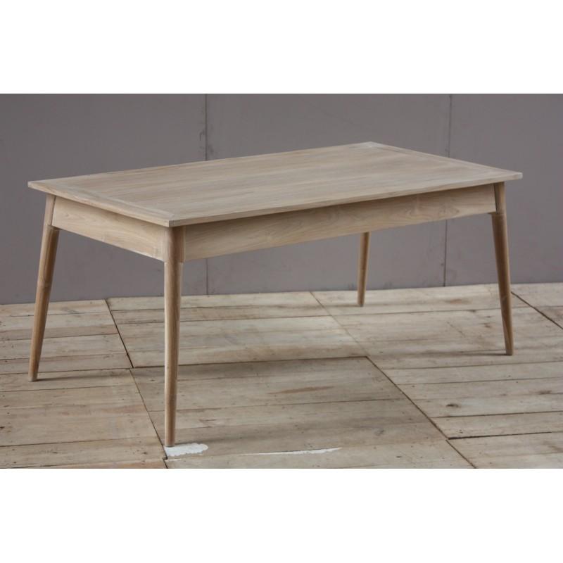 Table à manger 180x90cm contemporaine ADAM en teck massif (naturel) - image 30498