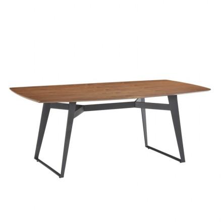 Tavolo da pranzo moderno e vintage MAEL in legno e metallo ...