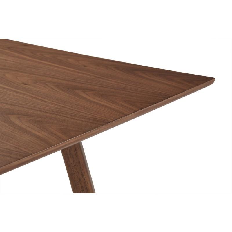 Table à manger design LOANE en bois (200cmX90cmX76cm) (noyer) - image 30544