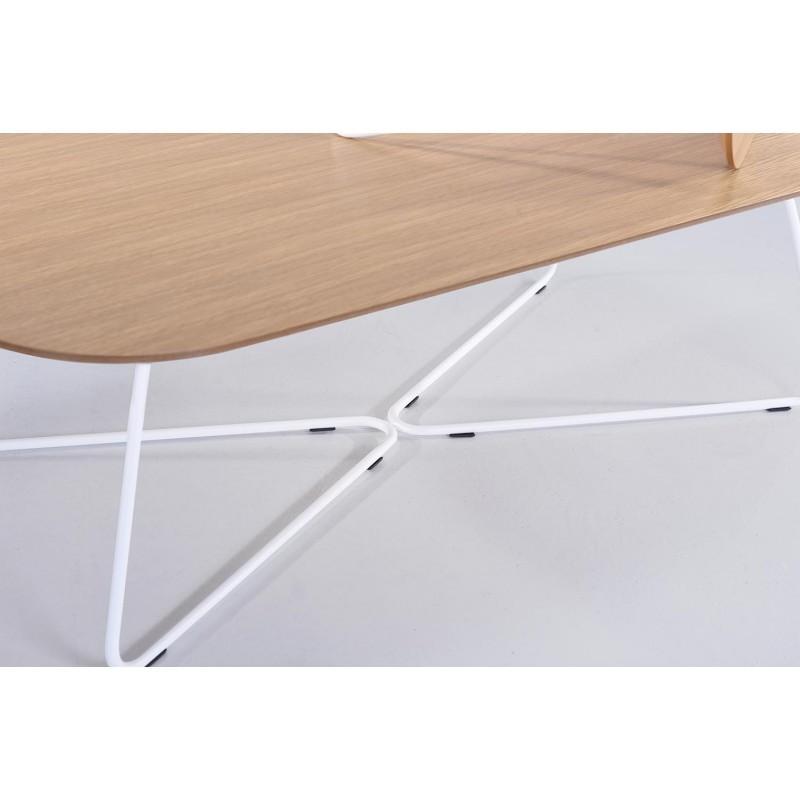 Table Basse Design Argan En Bois Et Métal Chêne Naturel