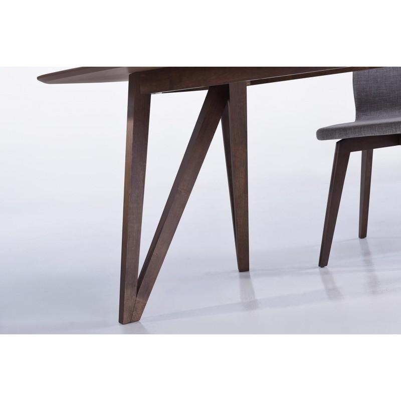 Table à manger contemporaine et vintage MAELYS en bois (240cmX100xcmX75cm) (noyer) - image 30572