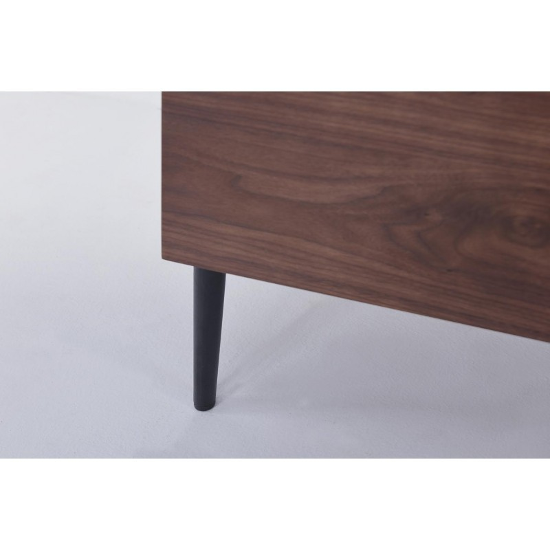 Buffet enfilade 4 portes 1 tiroir contemporain et vintage CORREZE en bois (noyer) - image 30581