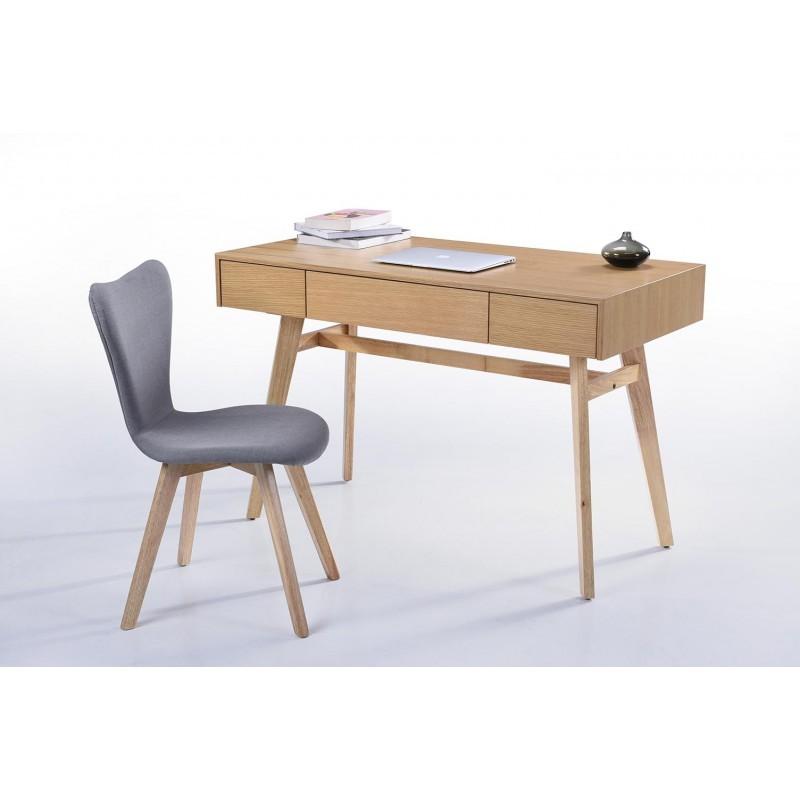 Bureau droit scandinave DENEZ en bois (chêne naturel) - image 30590