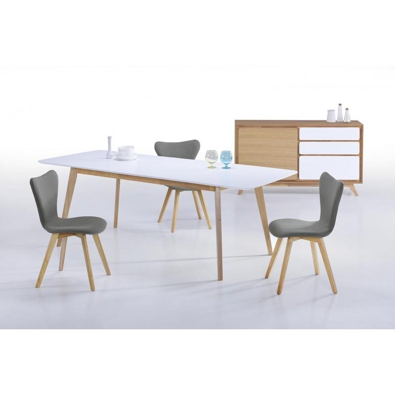 Sala da pranzo scandinavo EVY (180/224cmX90cmX76cm (tavolo ...