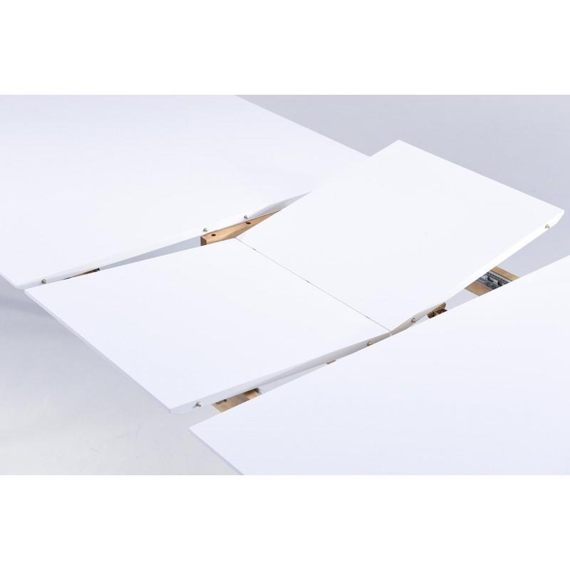 Table à manger extensible scandinave EVY en bois (180/224cmX90cmX76cm) (blanc) - image 30607