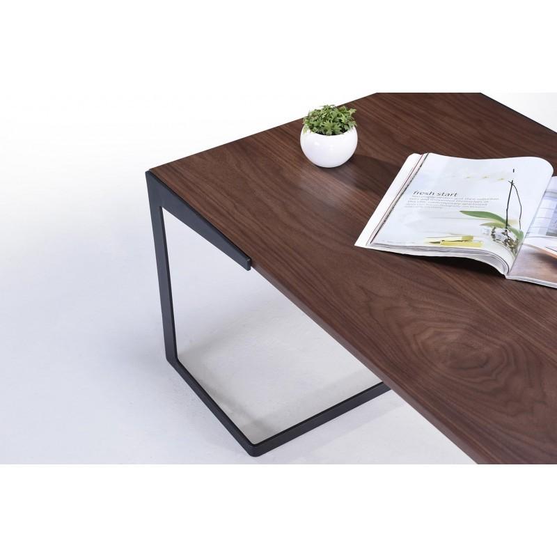 Table basse vintage MAGEN en bois (noyer) - image 30624