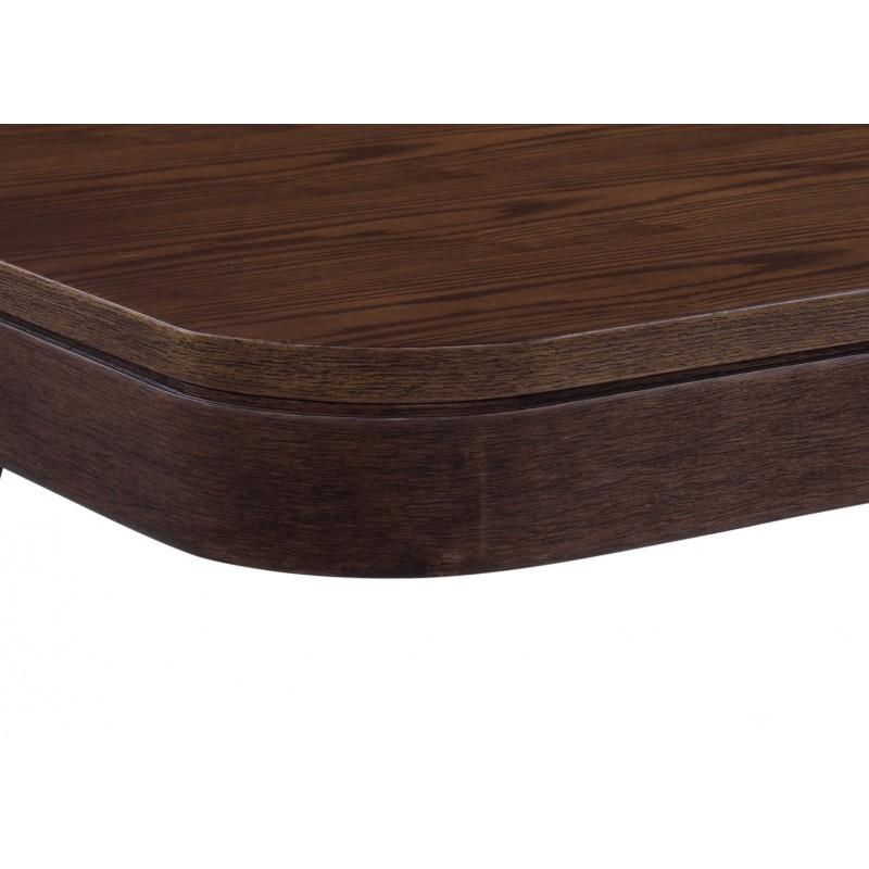 Table à manger scandinave et vintage LOEVA en bois (180cmX90X75cm) (noyer) - image 30654