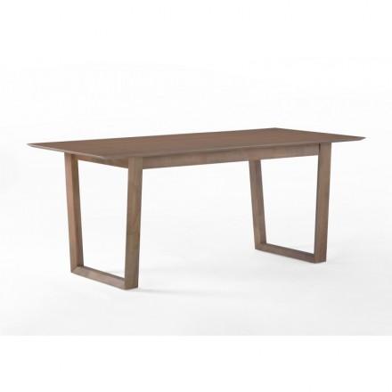 Mesa de comedor diseño EWEN madera (180cmX90X75cm) (roble) - AMP ...