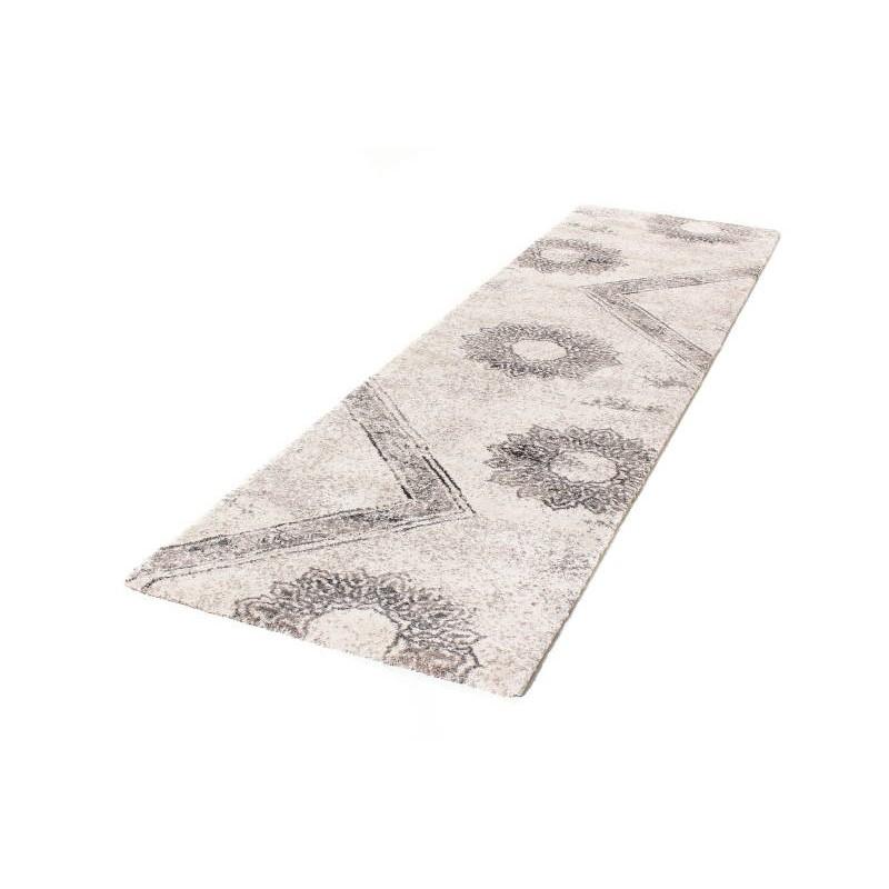 tappeto in corridoio moderno 80 x 300 cm moda moderna gabeh crema marrone. Black Bedroom Furniture Sets. Home Design Ideas