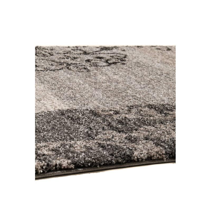 tapis de couloir moderne 80x300 cm modern fashion gabeh gris ivoire. Black Bedroom Furniture Sets. Home Design Ideas