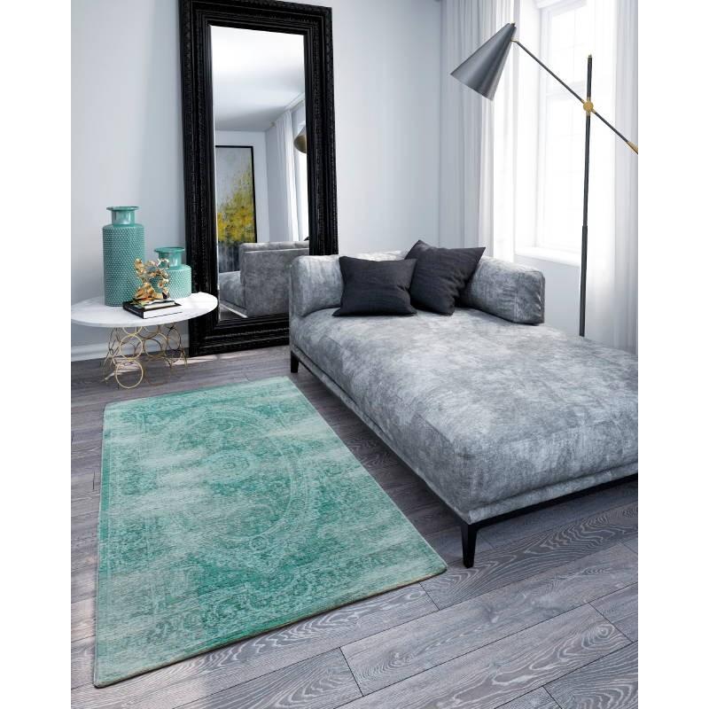 Soggiorno colori sbiaditi tappeto moderno di Berlino (turchese) 160 ...