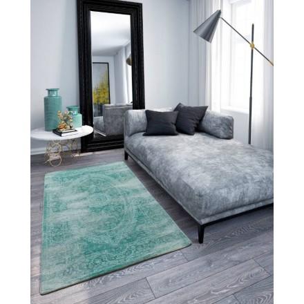 Wohnzimmer Farben verwaschen 300 X 380 cm BERLIN (türkis) moderne Wolldecke  - AMP Story 4362