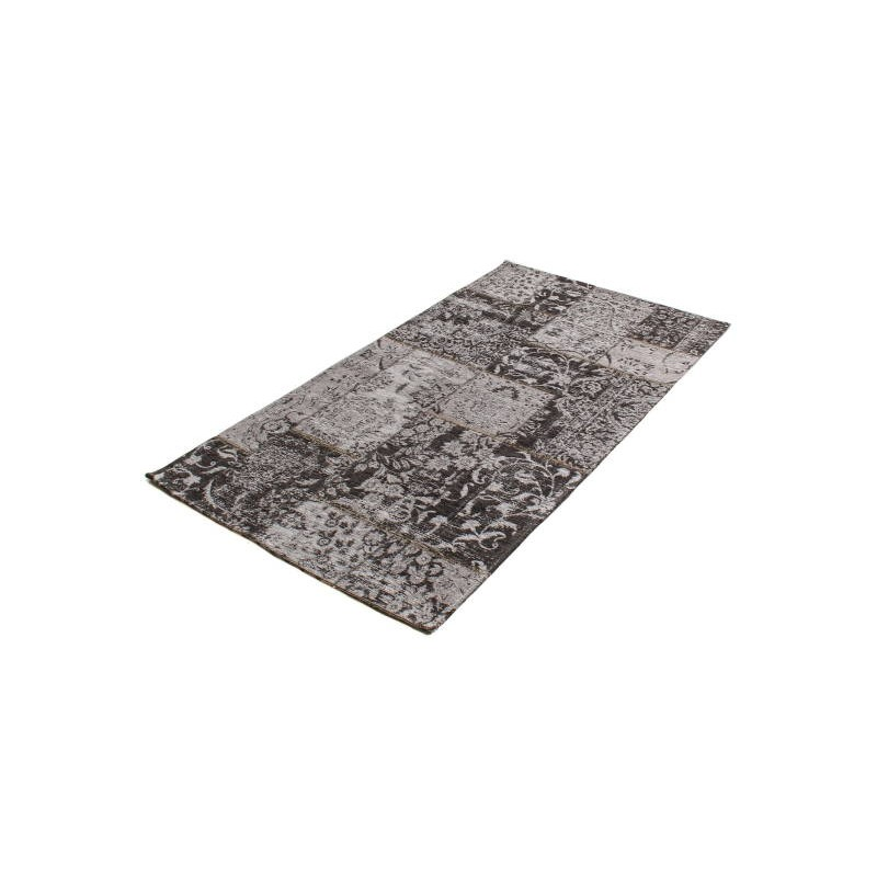tapis de salon moderne couleurs d lav es 60x110 cm berlin gris fonce noir. Black Bedroom Furniture Sets. Home Design Ideas