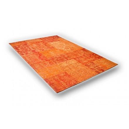 Tapis de Salon Moderne Couleurs délavées 130X190 cm BERLIN (ORANGE ...