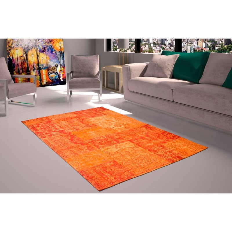 Tapis de salon moderne couleurs d lav es 160x230 cm berlin for Tapis orange salon
