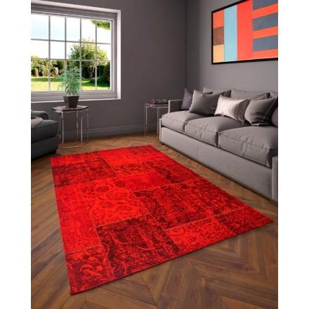 Wohnzimmer modern ausgewaschenen Farben 200 X 280 cm BERLIN (rot) Teppich -  AMP Story 4419