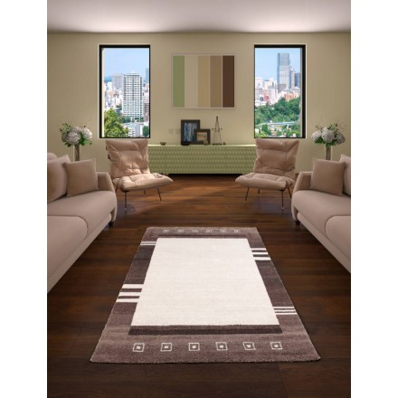 Living Room Modern And Carpet Patterned 160 X 230 Cm MODERN FASHION GABEH  (cream