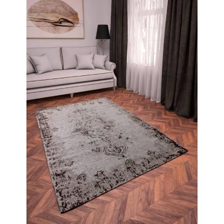 Soggiorno tappeto moderno sbiaditi colori 240 X 340 cm Berlino (grigio -  nero) - AMP Story 4518
