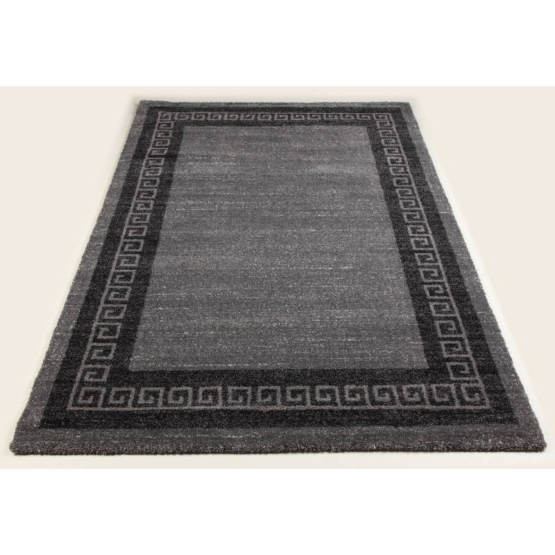 tapis de couloir moderne 80x300 cm modern fashion gabeh anthracite gris fonce. Black Bedroom Furniture Sets. Home Design Ideas