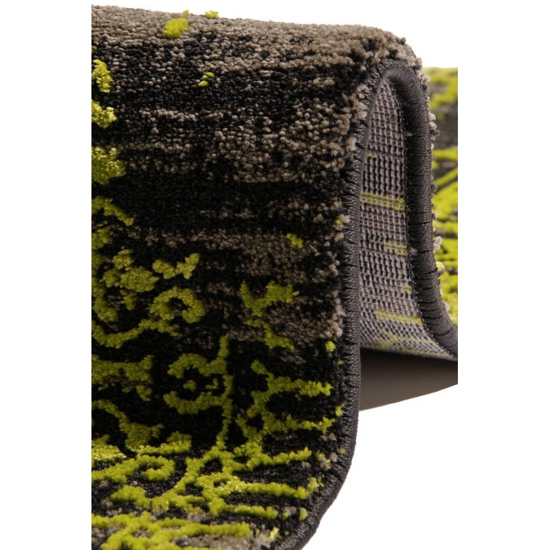 tapis de couloir color 80x300 cm modern fashion leo noir vert clair. Black Bedroom Furniture Sets. Home Design Ideas