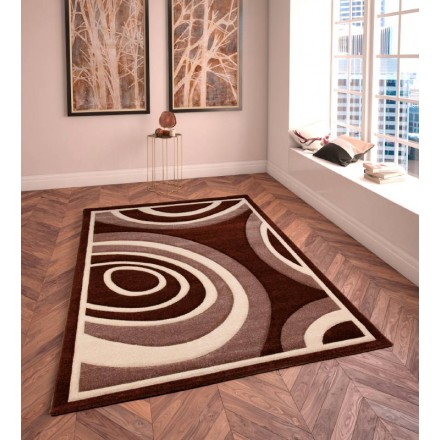 See The Product In The Shop: Living Room Rug Modern And Frieze 120 X 170 Cm  MODERN FRIESLAND SUPERVERSO (DBRUN   BEIGE)