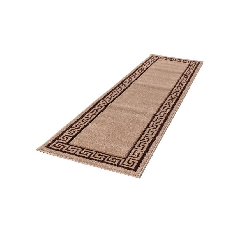 tapis de couloir moderne et fris 80x300 cm modern frise superverso beige brun. Black Bedroom Furniture Sets. Home Design Ideas