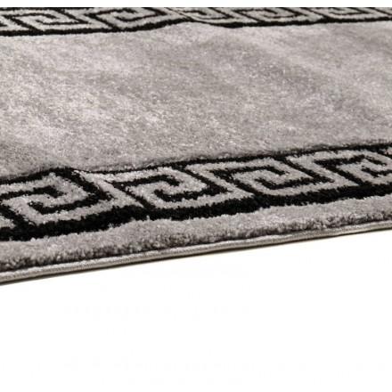 Wohnzimmer Teppich Modern und Fries 280 X 380 cm moderne FRIESLAND  SUPERVERSO (grau - schwarz) - AMP Story 5009
