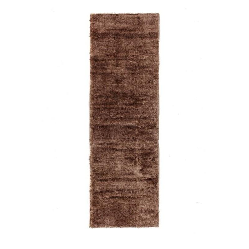 tapis de couloir shaggy doux 80x300 cm shaggy moon beige fonce. Black Bedroom Furniture Sets. Home Design Ideas