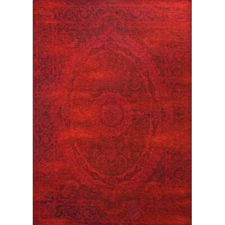 Living room rug modern washed out colors 130 X 190 cm BERLIN (red - red) -  AMP Story 5368