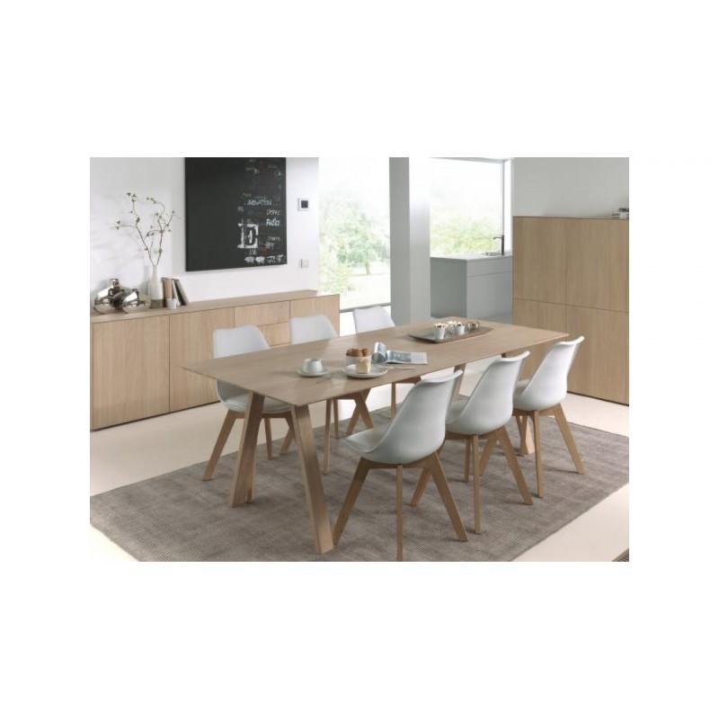 Tavolo da pranzo allungabile design (180/232x90x76cm) BRIEG in 100% solida  quercia (rovere naturale crudo) - Camera tavolo da pranzo e tavoli da ...