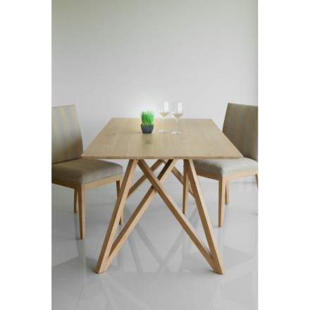 Dining table design LEVANA solid oak (180x90cmx76cm) (natural oak)