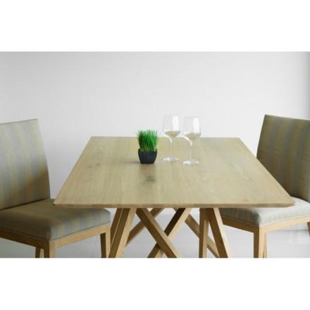 Diseño de mesa de comedor roble macizo LEVANA (180x90cmx76cm) (roble  natural) - AMP Story 5382