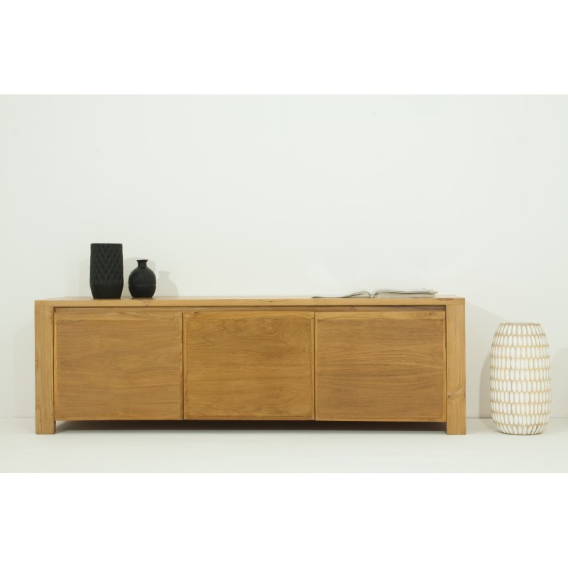 TV low contemporary 3 doors ANATOLY (natural) massive teak furniture - image 36148