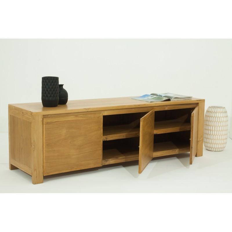 TV low contemporary 3 doors ANATOLY (natural) massive teak furniture - image 36152