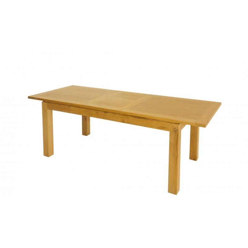 Table manger extensible contemporaine fedot en teck for Table extensible contemporaine