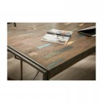 Table vintage NOAH in solid recycled teak and metal (180x90x78cm)