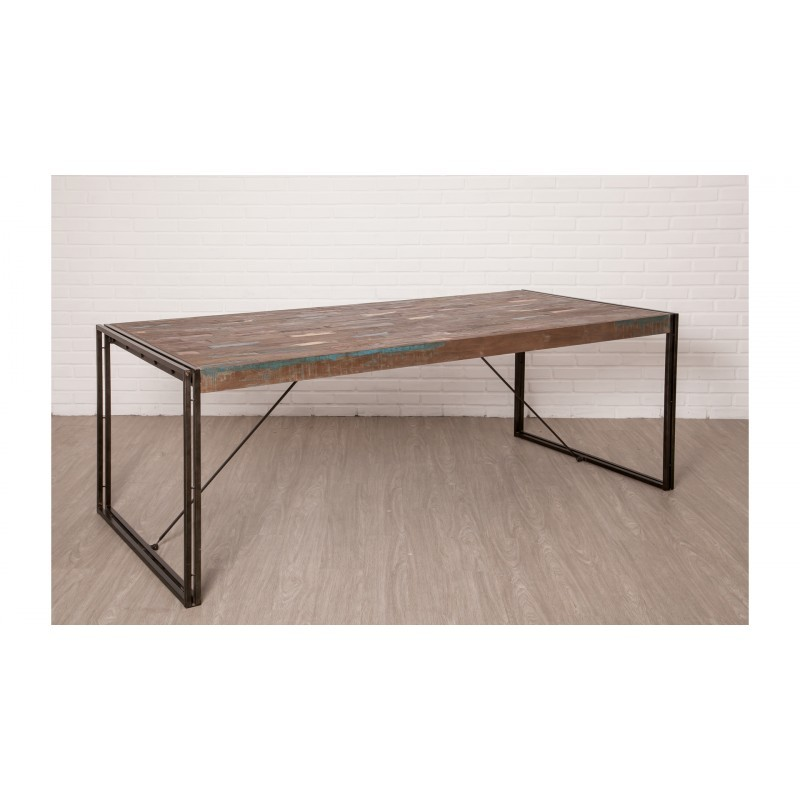 table manger vintage noah en teck massif recycl et. Black Bedroom Furniture Sets. Home Design Ideas
