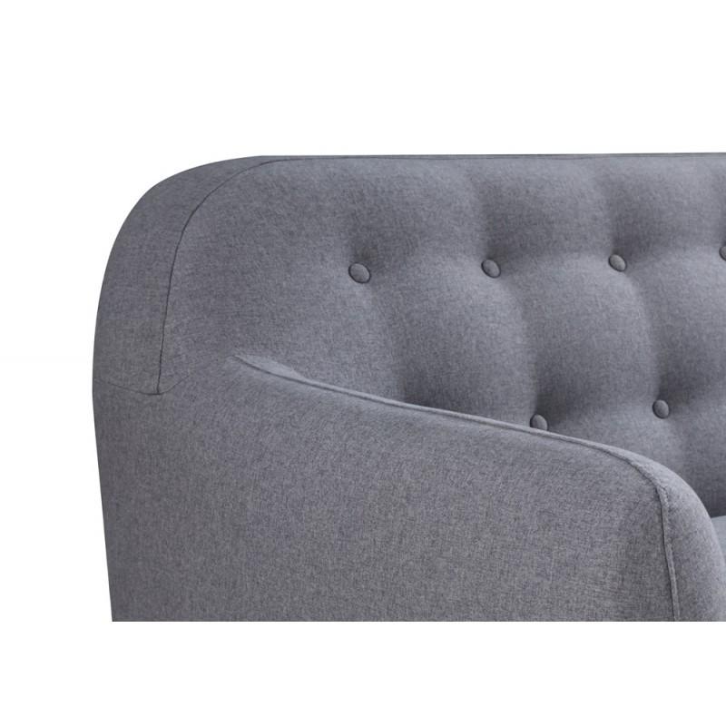 Canapé droit fixe scandinave 3 places VLADA en tissu (gris foncé) - image 36330
