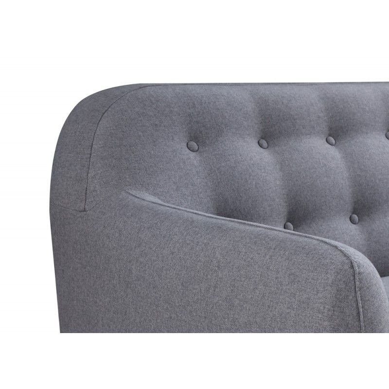 Escandinavo sofá derecho fijo 3 lugares a tela VLADA (gris oscuro) - image 36330