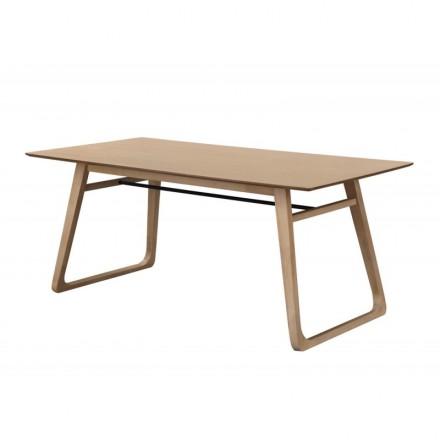 Table à manger contemporaine LEANA en bois et métal (180X90X75cm ...