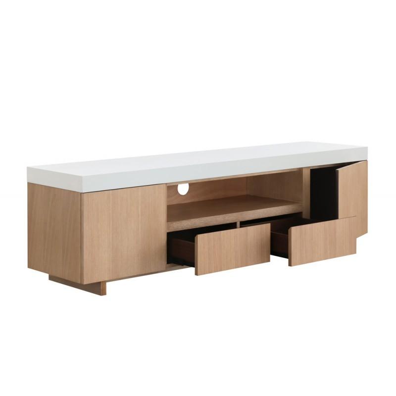Mueble 2 puertas 1 bajo TV 2 cajones contemporáneos del lugar y ...