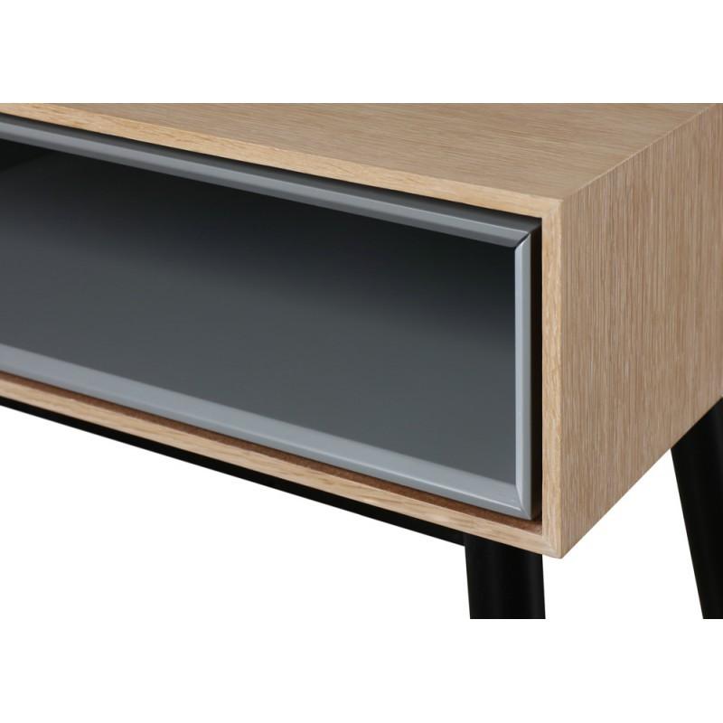 Design Couchtisch 1 Nische ADAMO 1 Schublade aus Holz (Eiche hell) - image 36367