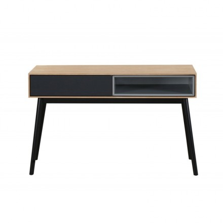 Console design 1 niche ADAMO 1 drawer in wood (light oak)